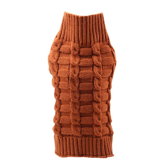 Arnold CableKnit Dog Sweater - Caramel