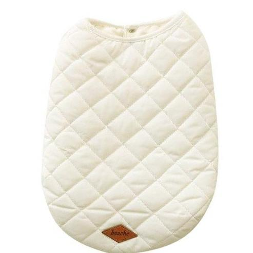Popover Quilted Dog Vest - Snow