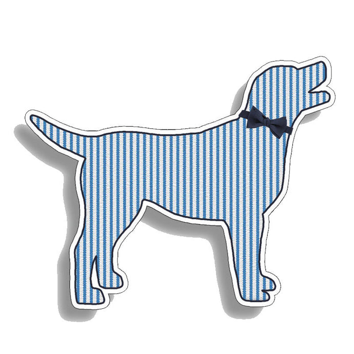 Seersucker Labrador PVC Reflective Car Decal