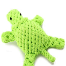 Dog Rope Toy - Turtle - Lime Green