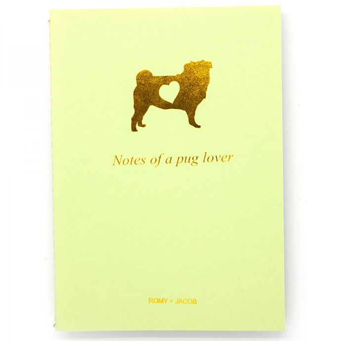 10 Pack Pet Lover Notebook - Pug Love