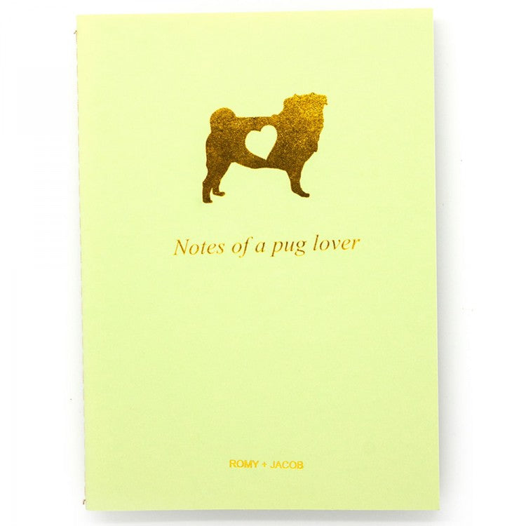 4 Pack Pet Lover Notebook - Pug Love