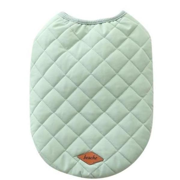 Popover Quilted Dog Vest - Soft Aqua