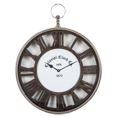 Dark Wood Fob Clock