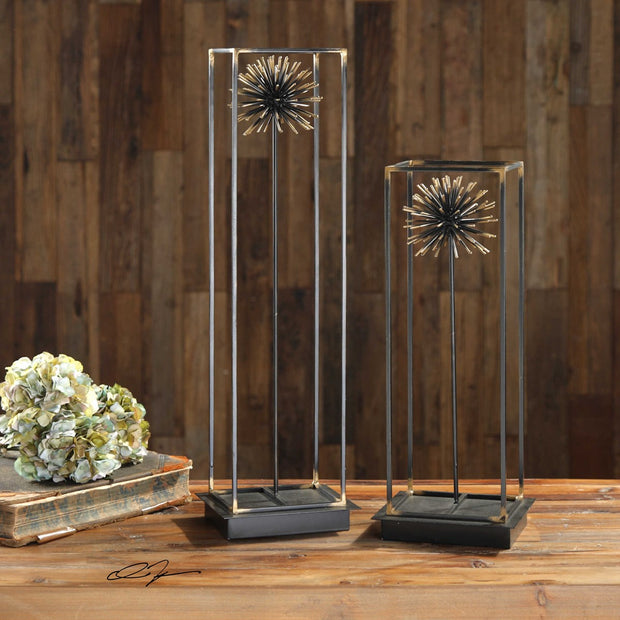Flowering Dandelions Sculpture S/2