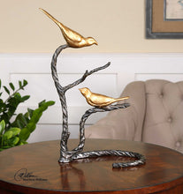 Golden Birds Figurine