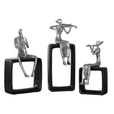 Musical Ensemble Figurines S/3