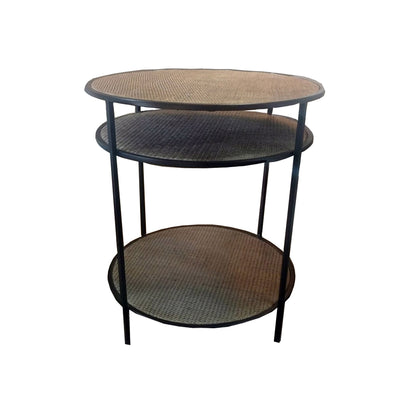 Rattan 3 Tier Table Natural