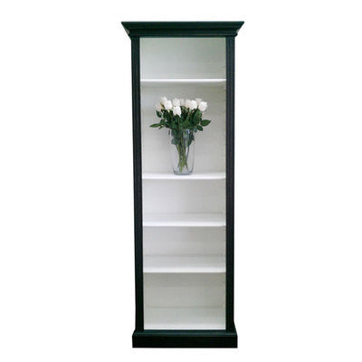 Slim Bookcase Black and White