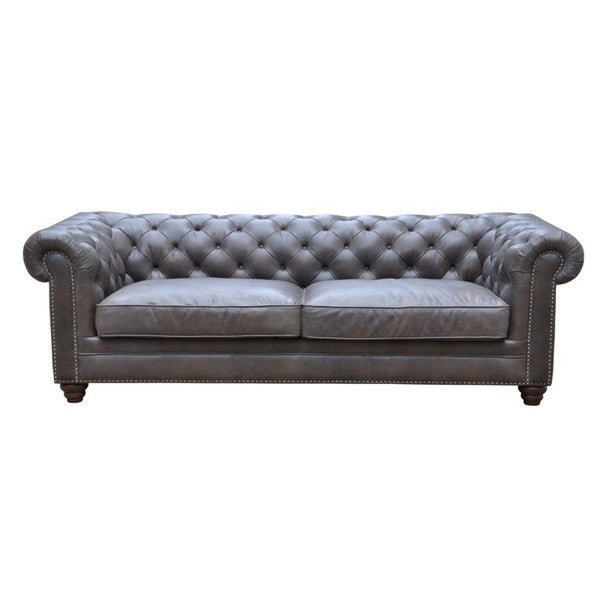 Joshua 3 Seater- Brown Leather