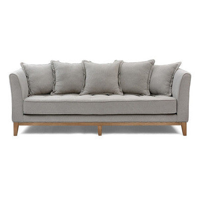 Beige/taupe 3 seater sofa