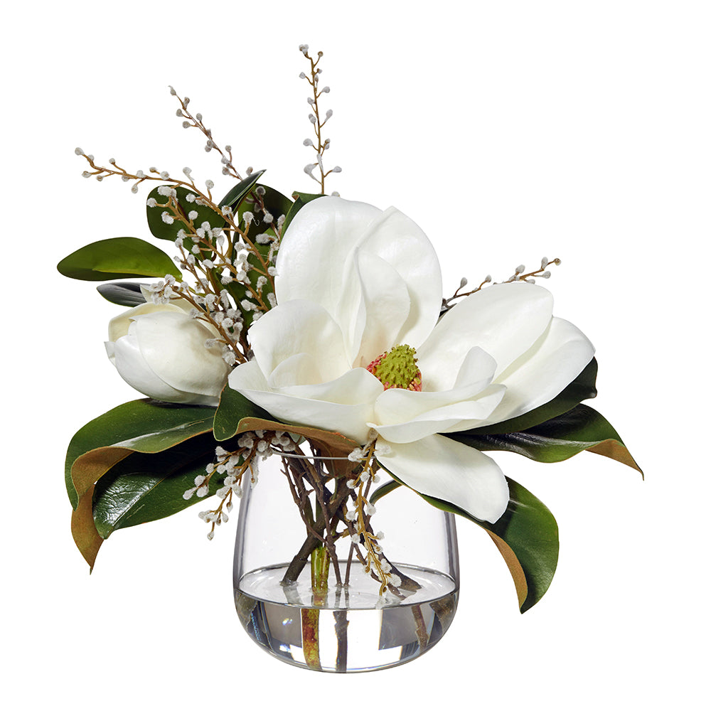 Magnolia and Willow in Vase
