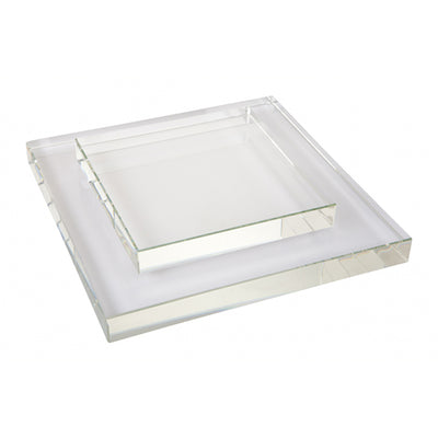 Crystal Square Shadow Plate
