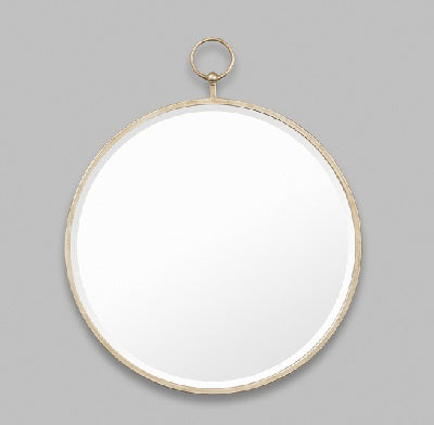 Antique Silver Fob Mirror