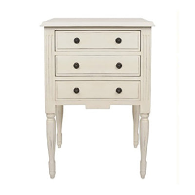 Brelan Bedside Table Antique white
