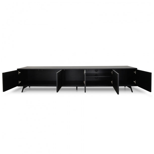 240cm black Oak TV Unit