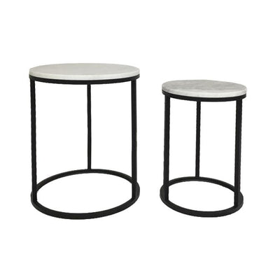 Benita Marble Side Tables S/2