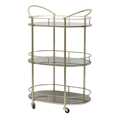 3 Tier Gold Drinks Trolley