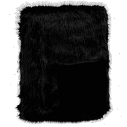 Black Fox Faux Fur Cushion rect