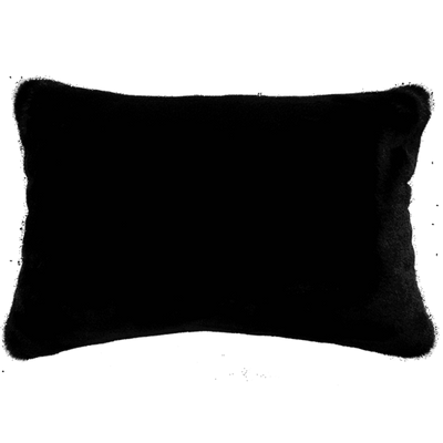Black Panther Faux Fur Cushion Rect