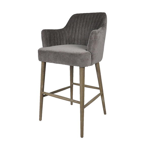 Sidearm Silver Grey Bar Stool