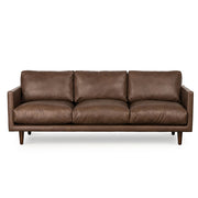 Carlton Brown Leather 3 Seat Sofa