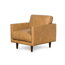 Carlton Tan Leather 3 Seat Sofa