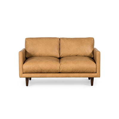 Carlton Tan Leather 2 Seat Sofa