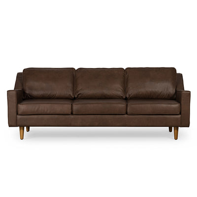Tyler Brown Leather 3 Seat Sofa