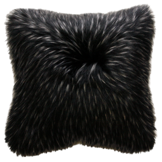 Ebony Plume Faux Fur Cushions