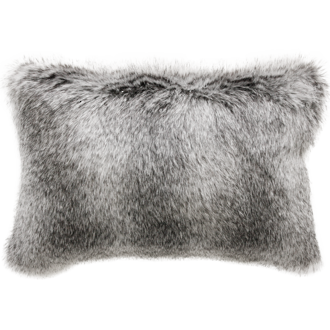 Grey Wolf Faux Fur Rect