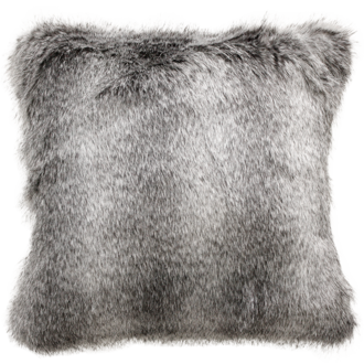 Grey Wolf Faux Fur Cushions