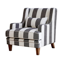 Hampton Stripe 3 Seat Sofa Grey