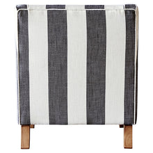 Grey and Cream Wide Stripe Armchair