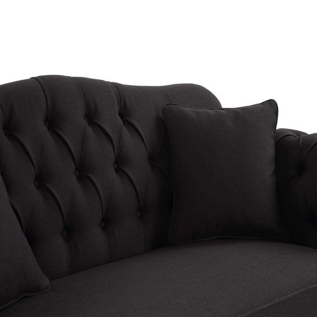 Fontaine 2 Seater Charcoal