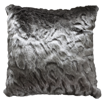 Pewter Chinchilla Faux Fur Cushions