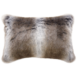 Striped Elk Faux Fur Rect