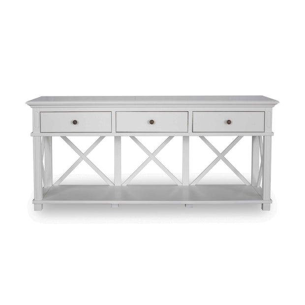 Lipari 3 Drawer Console white