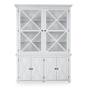 Lipari 2 Door Display Cabinet White