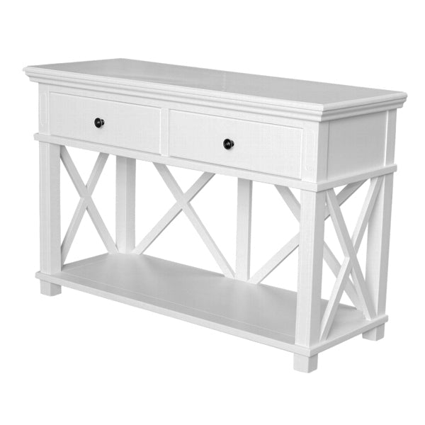 Lipari 2 Drawer Console White