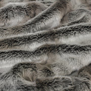 Silver Marten Faux Fur Cushion