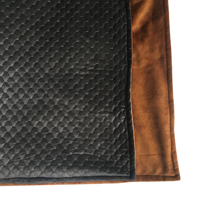 Celino Onyx/Bronze Quilt Throw