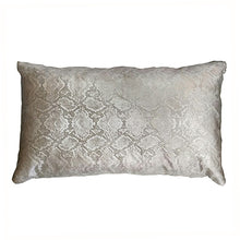 Gold Snakeskin Square Cushion
