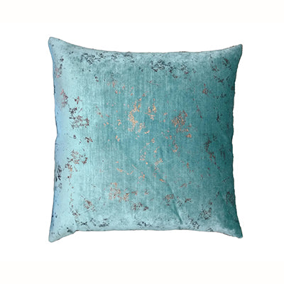 Aqua Bronze Square Cushion