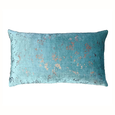Aqua Bronze Lumber Cushion