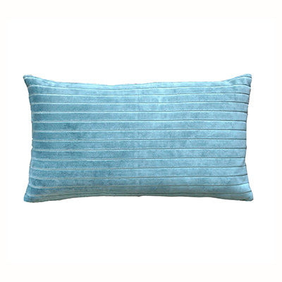 Aqua Velvet Stripe Cushion