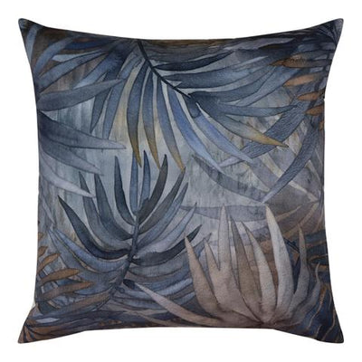 Blue Ochre Velvet Cushion