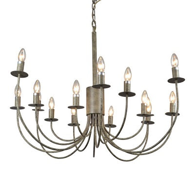 Large Iron Arm Chandelier