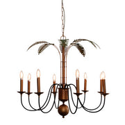 Palm Leaf Iron Chandelier