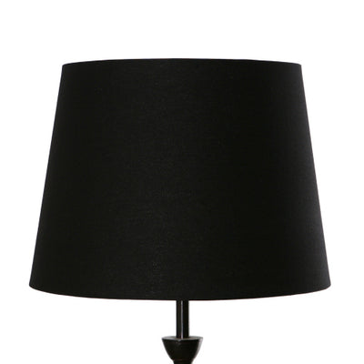 38cm Black Tapered Drum Shade